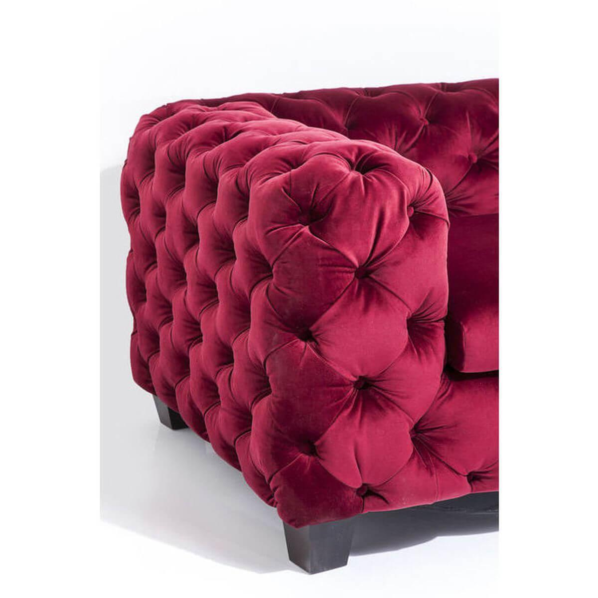 Canapé 3 places MY DESIRE Kare Design velvet rubis