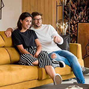 Canapé 3,5 places PATRAS Henders & Hazel jaune