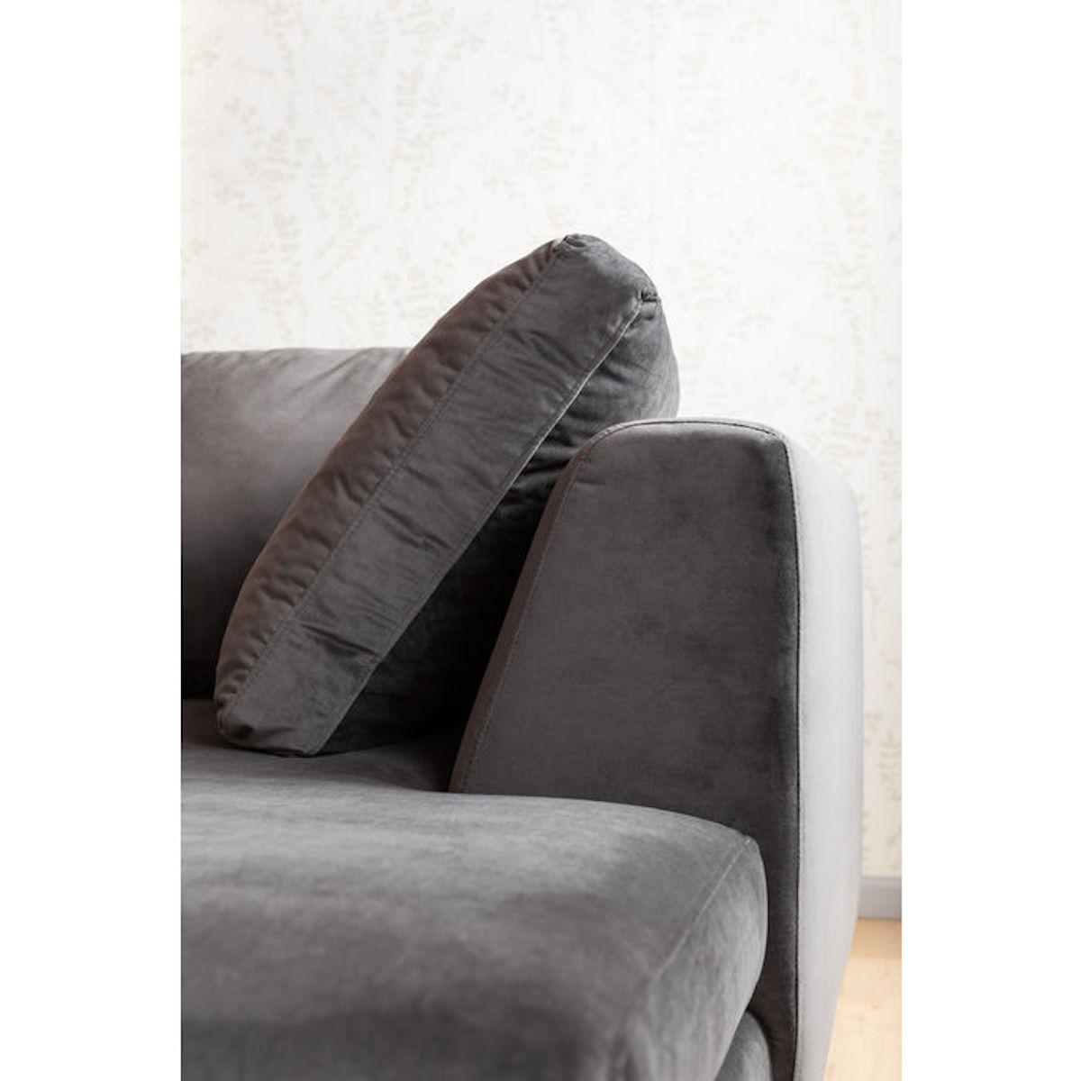 Canapé d'angle BLACK GIANNA Kare Design velours gris