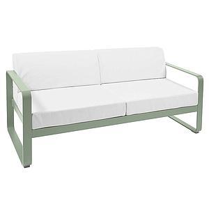 Canapé de jardin 2 places BELLEVIE Fermob cactus-blanc grisé