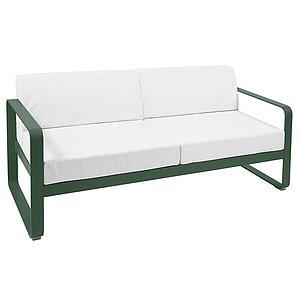 Canapé de jardin 2 places BELLEVIE Fermob cèdre-blanc grisé