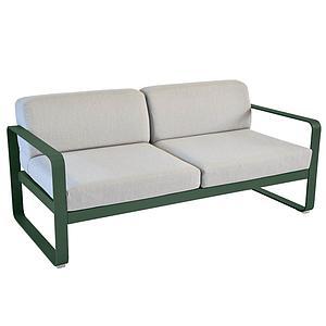 Canapé de jardin 2 places BELLEVIE Fermob cèdre-gris flanelle