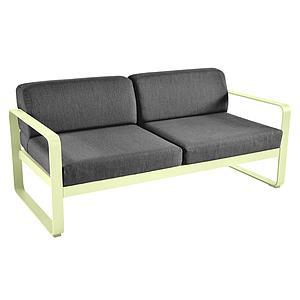 Canapé de jardin 2 places BELLEVIE Fermob citron givré-gris graphite