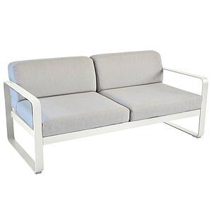 Canapé de jardin 2 places BELLEVIE Fermob gris argile-gris flanelle