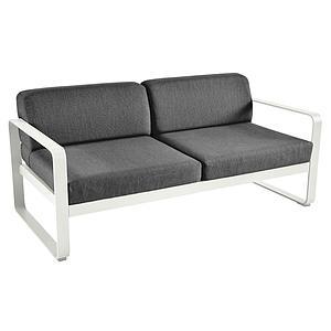 Canapé de jardin 2 places BELLEVIE Fermob gris argile-gris graphite