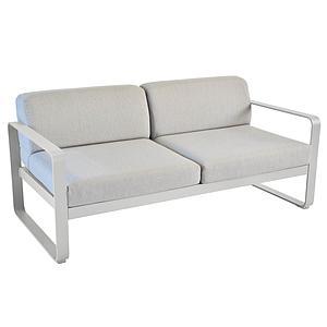 Canapé de jardin 2 places BELLEVIE Fermob gris métal-gris flanelle