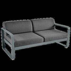 Canapé de jardin 2 places BELLEVIE Fermob Gris Orage-gris graphite