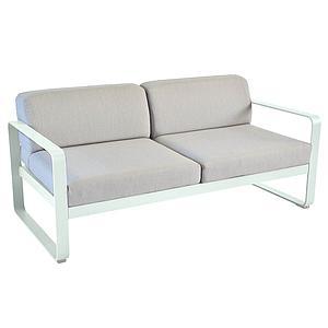 Canapé de jardin 2 places BELLEVIE Fermob menthe glaciale-gris flanelle