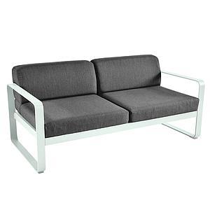 Canapé de jardin 2 places BELLEVIE Fermob menthe glaciale-gris graphite