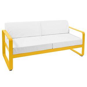 Canapé de jardin 2 places BELLEVIE Fermob miel-blanc grisé