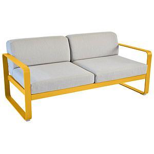 Canapé de jardin 2 places BELLEVIE Fermob miel-gris flanelle