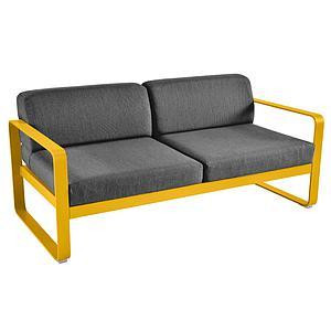 Canapé de jardin 2 places BELLEVIE Fermob miel-gris graphite