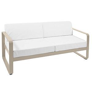 Canapé de jardin 2 places BELLEVIE Fermob muscade-blanc grisé