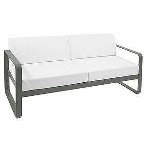Canapé de jardin 2 places BELLEVIE Fermob romarin-blanc grisé