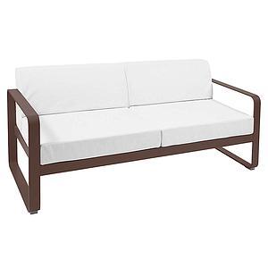 Canapé de jardin 2 places BELLEVIE Fermob rouille-blanc grisé
