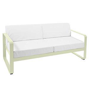 Canapé de jardin 2 places BELLEVIE Fermob tilleul-blanc grisé