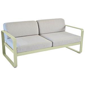 Canapé de jardin 2 places BELLEVIE Fermob tilleul-gris flanelle