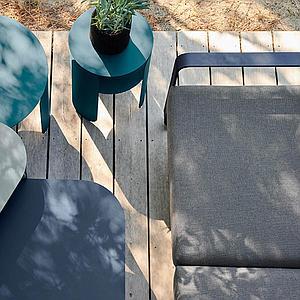 Canapé de jardin 2 places BELLEVIE Fermob vert opaline-blanc grisé