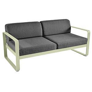 Canapé de jardin 2 places BELLEVIE Fermob vert tilleul- gris graphite