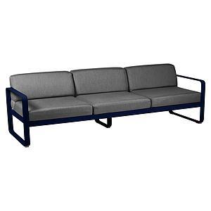 Canapé de jardin 3 places BELLEVIE Fermob bleu abysse-gris graphite