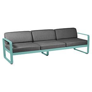 Canapé de jardin 3 places BELLEVIE Fermob bleu lagune-gris graphite