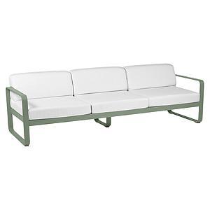 Canapé de jardin 3 places BELLEVIE Fermob cactus-blanc grisé