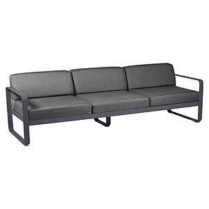 Canapé de jardin 3 places BELLEVIE Fermob carbone-gris graphite