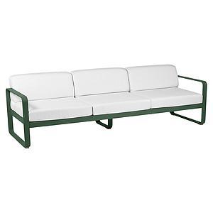 Canapé de jardin 3 places BELLEVIE Fermob cèdre-blanc grisé