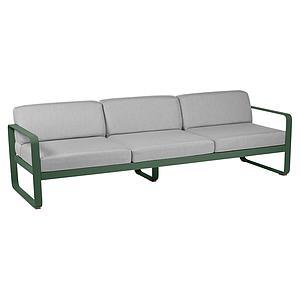Canapé de jardin 3 places BELLEVIE Fermob cèdre-gris flanelle
