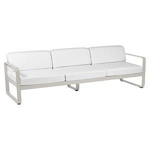 Canapé de jardin 3 places BELLEVIE Fermob gris argile-blanc grisé