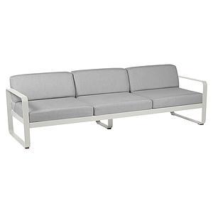Canapé de jardin 3 places BELLEVIE Fermob gris argile-gris flanelle
