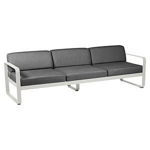 Canapé de jardin 3 places BELLEVIE Fermob gris argile-gris graphite