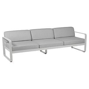 Canapé de jardin 3 places BELLEVIE Fermob gris métal-gris flanelle
