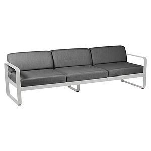 Canapé de jardin 3 places BELLEVIE Fermob gris métal-gris graphite