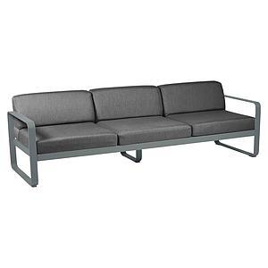 Canapé de jardin 3 places BELLEVIE Fermob gris orage-gris graphite