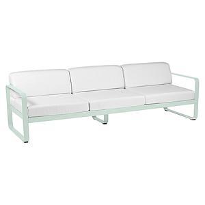 Canapé de jardin 3 places BELLEVIE Fermob menthe glaciale-blanc grisé