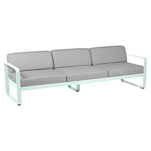Canapé de jardin 3 places BELLEVIE Fermob menthe glaciale-gris flanelle