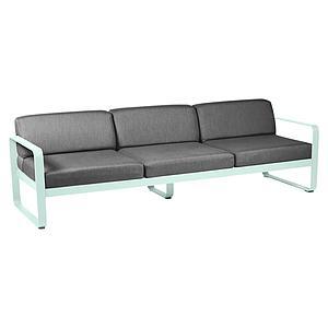 Canapé de jardin 3 places BELLEVIE Fermob menthe glaciale-gris graphite