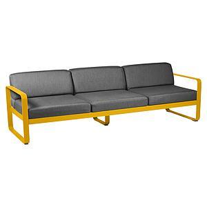 Canapé de jardin 3 places BELLEVIE Fermob miel-gris graphite