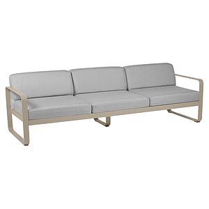 Canapé de jardin 3 places BELLEVIE Fermob muscade-gris flanelle