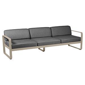Canapé de jardin 3 places BELLEVIE Fermob muscade-gris graphite