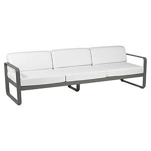 Canapé de jardin 3 places BELLEVIE Fermob romarin-blanc grisé