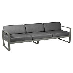 Canapé de jardin 3 places BELLEVIE Fermob romarin-gris graphite