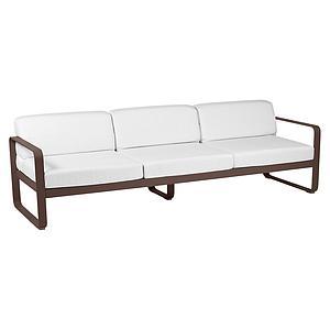 Canapé de jardin 3 places BELLEVIE Fermob rouille-blanc grisé