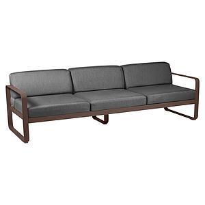 Canapé de jardin 3 places BELLEVIE Fermob rouille-gris graphite