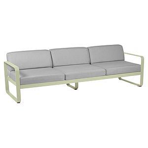 Canapé de jardin 3 places BELLEVIE Fermob tilleul-gris flanelle