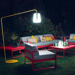 Canapé de jardin 3 places BELLEVIE Fermob vert opaline-gris graphite