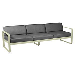 Canapé de jardin 3 places BELLEVIE Fermob vert tilleul-gris graphite