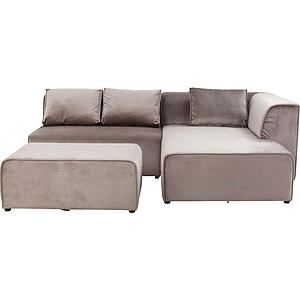 Canapé droite INFINITY Kare Design Velvet Taupe