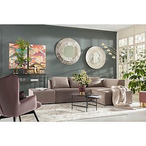 Canapé droite INFINITY Kare Design Velvet Taupe